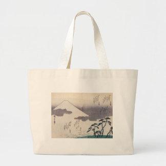 El monte Fuji hermoso en Japón circa 1800s Bolsas
