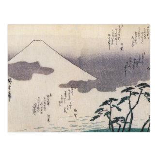 El monte Fuji hermoso en Japón circa 1800s Postales
