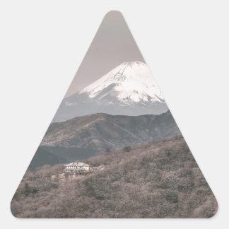 El monte Fuji, Japón Pegatinas De Trianguladas