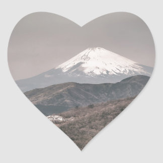 El monte Fuji, Japón Pegatina En Forma De Corazón