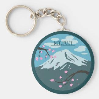 El monte Fuji Llavero Redondo Tipo Pin