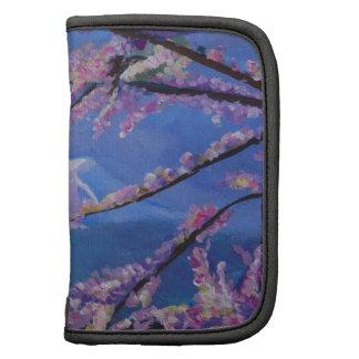 El monte Fuji maravilloso con la flor de cerezo en Organizador