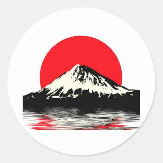 El monte Fuji Pegatinas Redondas