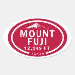 El monte Fuji pegatinas de la montaña de 12.389 Calcomanía Óval Personalizadas