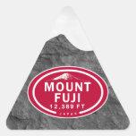 El monte Fuji pegatinas de la montaña de 12.389 Colcomanias Triangulo Personalizadas