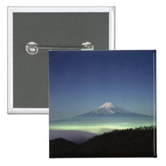El monte Fuji Pin Cuadrado