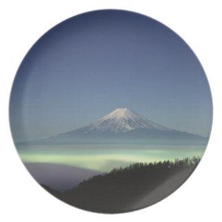 El monte Fuji Plato De Comida