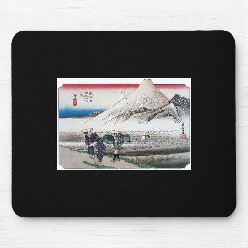 El monte Fuji por la mañana, Japón circa 1831-1834 Tapete De Ratón