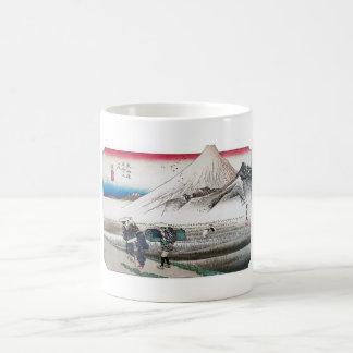 El monte Fuji por la mañana, Japón circa 1831-1834 Tazas De Café