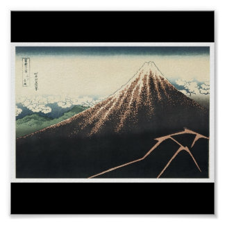 El monte Fuji, poster de C. de pintura japonesa 18