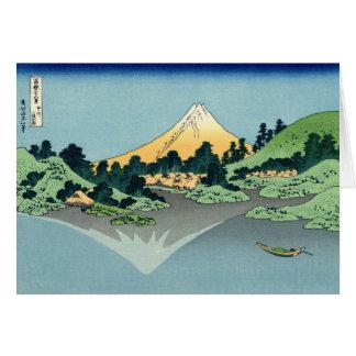 El monte Fuji refleja en el lago Kawaguchi, Hokusa Tarjeta De Felicitación