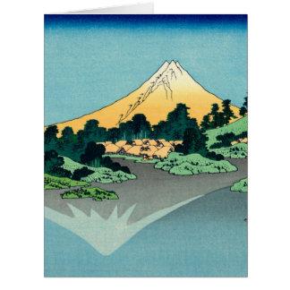 El monte Fuji refleja Tarjeta De Felicitación Grande