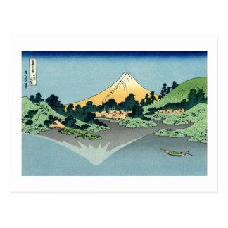 El monte Fuji reflejó en el lago Kawaguchi Postal