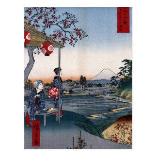 El monte Fuji vio a partir de los 1800s Japón del Tarjetas Postales