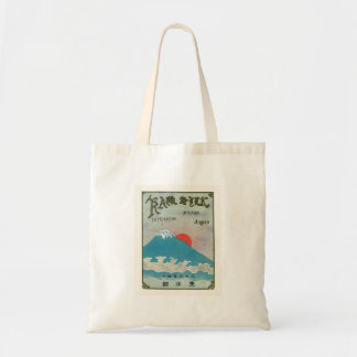 El monte Fuji y etiqueta de seda japonesa del vint Bolsa Tela Barata