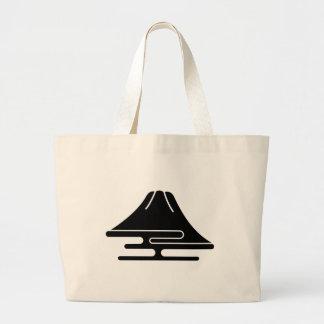 El monte Fuji y neblina Bolsa De Tela Grande