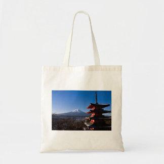 El monte Fuji y pagoda roja Bolsas De Mano