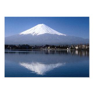 El monte Fuji y reflexión en el lago Kawaguchi, Comunicado