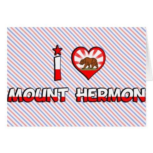 El monte Hermón, CA Tarjeta De Felicitación
