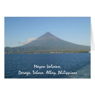 El Monte Mayon famoso en tarjeta de nota del