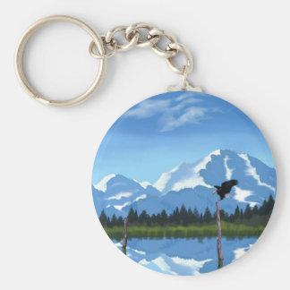 El monte McKinley Alaska Llaveros Personalizados