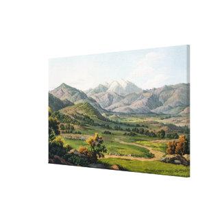 El monte Olimpo, según lo visto entre Larissa y el Impresión En Tela