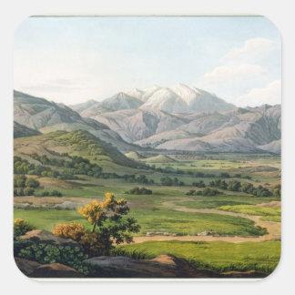 El monte Olimpo, según lo visto entre Larissa y el Pegatina Cuadrada