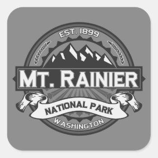 El Monte Rainier Ansel Adams Pegatina Cuadrada