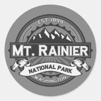 El Monte Rainier Ansel Adams Pegatina Redonda