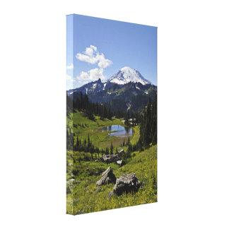 El Monte Rainier Impresión En Lona Estirada