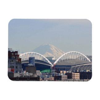 El Monte Rainier de Seattle Imanes