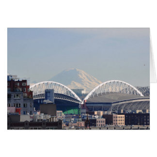 El Monte Rainier de Seattle Tarjeta De Felicitación