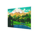El Monte Rainier del lago Tipsoo en el paso de Chi Lona Estirada Galerías