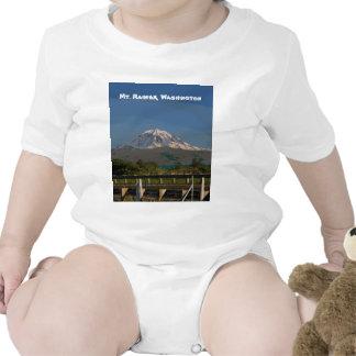 El Monte Rainier en el estado de Washington Traje De Bebé