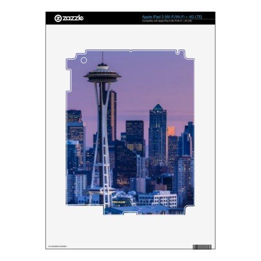 El Monte Rainier en el fondo iPad 3 Pegatinas Skins