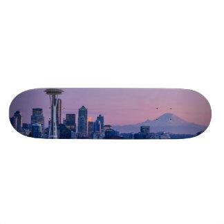 El Monte Rainier en el fondo Patin Personalizado