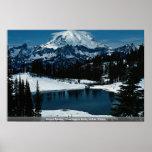 El Monte Rainier, estado de Washington, invierno d Posters