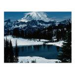 El Monte Rainier, estado de Washington, invierno d Postales