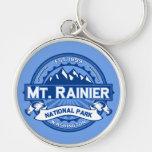 El Monte Rainier Llavero Redondo Plateado