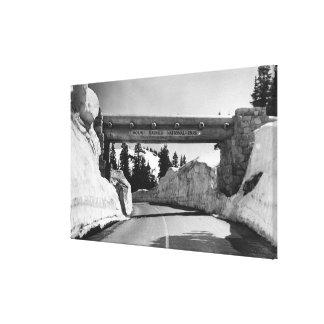 El Monte Rainier paso de Naches de la cumbre del Lona Envuelta Para Galerías