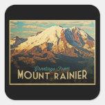 El Monte Rainier Pegatina Cuadradas Personalizada