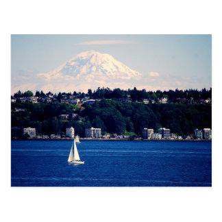 El Monte Rainier vio de Puget Sound Postal