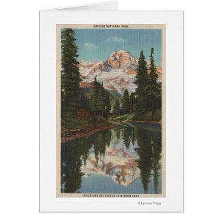 El Monte Rainier, WA - lago mirror con Mt. Reflect Tarjeta