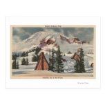 El Monte Rainier, WA - mesón del paraíso en el pie Postal