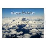 El Monte Rainier, Washington, tarjeta del feliz