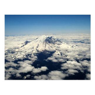 El Monte Rainier, Washington, visión aérea, postal