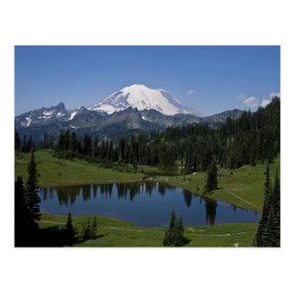 El Monte Rainier y postal del lago Tipsoo