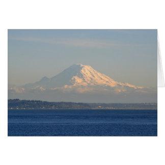 El Monte Rainier y Puget Sound Tarjeta De Felicitación
