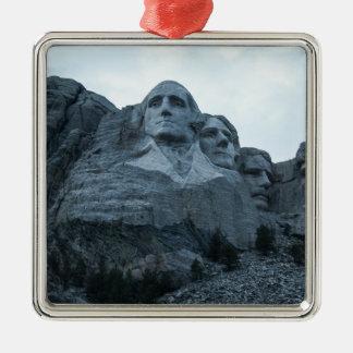 El monte Rushmore Adorno Navideño Cuadrado De Metal
