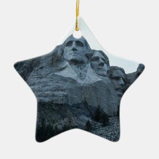 El monte Rushmore Adorno Navideño De Cerámica En Forma De Estrella